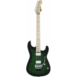 Pro-Mod San Dimas® Style 1 HH FR M QM, Maple Fingerboard, Transparent Green Burst