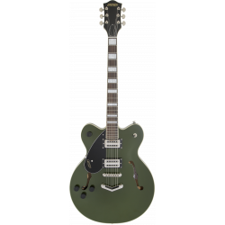 G2622LH Streamliner™ Center Block with V-Stoptail, Left-Handed, Laurel Fingerboard, Broad'Tron™ BT-2S Pickups, Torino Green