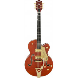 G6120TFM Players Edition Nashville® with String-Thru Bigsby®, Filter'Tron™ Pickups, Flame Maple, Orange Stain