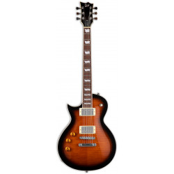 LTD EC-256FM Dark Brown Sunburst Left Hand